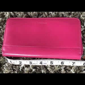 Handbags - Tiffany & Co patent leather candy pink wallet